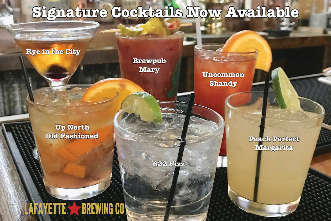 specialty cocktails now available